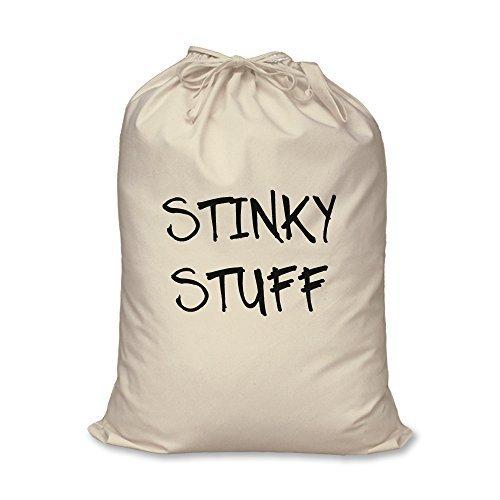 Wäschesack Stinky Stuff Teenager Student Geschenk 100% natürliche Baumwolle Aufbewahrung Zuhause Organisation Wäschekorb, Travel Size 46cm x 60cm