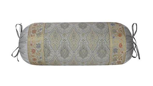 Lalhaveli Runde Seide Nackenrolle Kissenbezug für Sofa Decor/Wohnzimmer Dekor 76 x 38 cm (Seide Dekorative Nackenrolle)