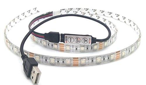 ng USB 5 V LED Strip 5050 Staubdichtes Band DC5V TV Hintergrund Beleuchtung DIY Dekorative Lampe RGB 100 cm ()