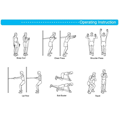 Ouneed® Yoga Pliate Fitness Elastique Bande de Musculation Noir