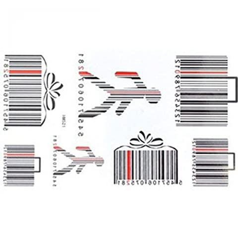 SPESTYLE waterproof non-toxic temporary tattoo stickersnew design new release temporary tattoo waterproof male and female models barcode pattern temporary