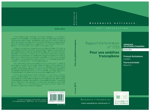 Rapport dinformation sur la Francophonie : action culturelle, ducative et conomique