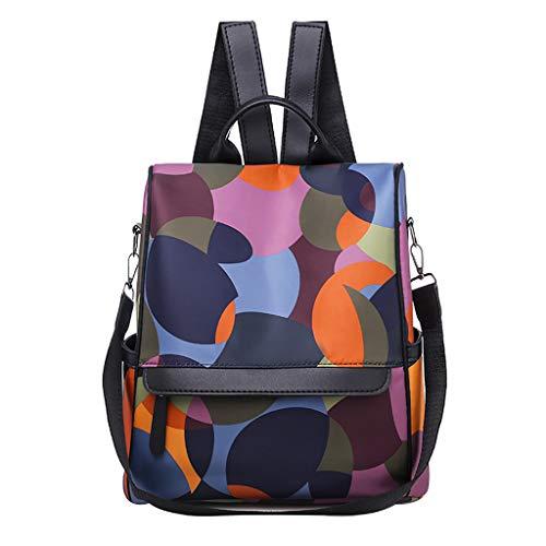 Damen Rucksack Handtaschen Weant Nylon Mehrfarbig Schultaschen Anti-Diebstahl Tagesrucksack Umhängetasche Handtasche Mädchen Schulrucksäcke Sporttasche Reiserucksack Backpack für Schule Reise Arbeit -