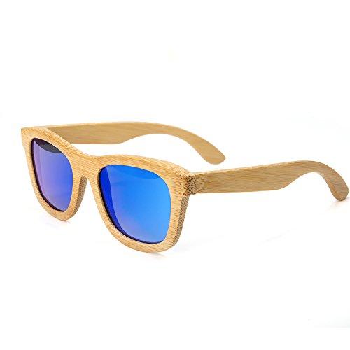 HABI Sonnenbrille & Etui UV400 schwarz Fassung Holz-Sonnenbrille 100% Bambus verschiedene Styles unisex (3)