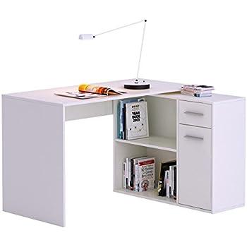 schreibtisch eckschreibtisch computertisch diego in wei mit regal 120 x 75 x 121 cm. Black Bedroom Furniture Sets. Home Design Ideas