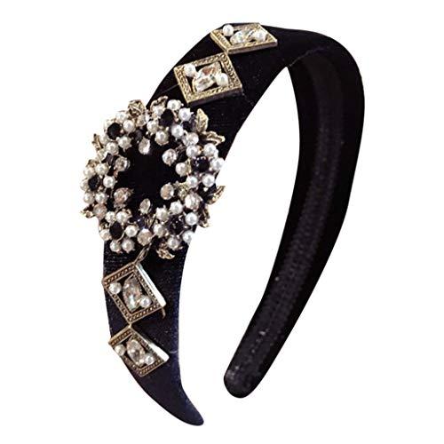 ZEELIY Damen Mode Mehrfarbig Kopfband Haarspange, Frauen Crystal Headband Wide Stoff Haarband Kopf Wickeln Haarband Zubehör