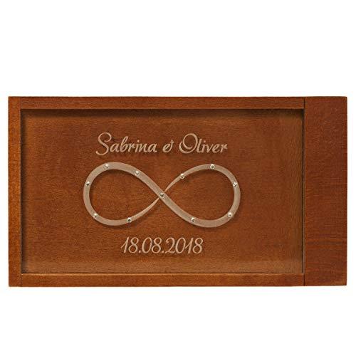 Geschenke 24: Magische Geldgeschenkebox mit Unendlichkeitszeichen (weiße Swarovski-Kristalle) – originelle…