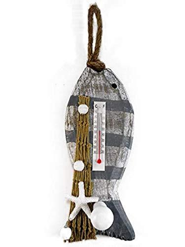 Maritim Garderobe Haken Thermometer Fisch 25 x 8 cm Figur Deko GRF 39.0635 D