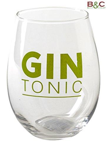 'Set DE 6Verres en Verre Gin Tonic–Mesures:...