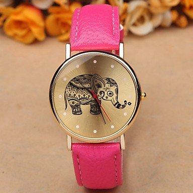 Fashion Watches Relojes Hermosos, Moda Correa del Ocio Relojes Elefante Literal (Color : Negro, Género : para Mujer)