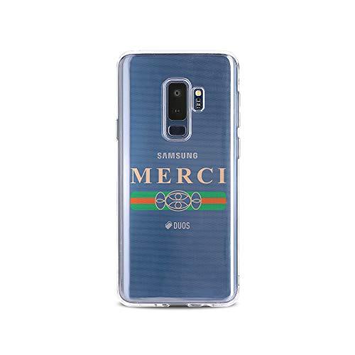 us Handyhülle Smartphone Samsung Case aus TPU mit Merci Bonbons Print Motiv Slim Design Transparent Cover Schutz Hülle Protector Soft Aufdruck Lustig Funny Druck ()