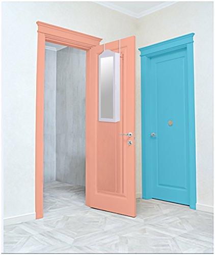 Ezigoo Schmuckschrank Spiegel – Türmontage/Wandmontage 96 x 35 x 8,7 cm – Weißer Schmuck Spiegel mit viel Stauraum - 8