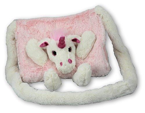 Kindermuff Einhorn pink, Muff super flauschig für Kinder, 23x20cm, 6193