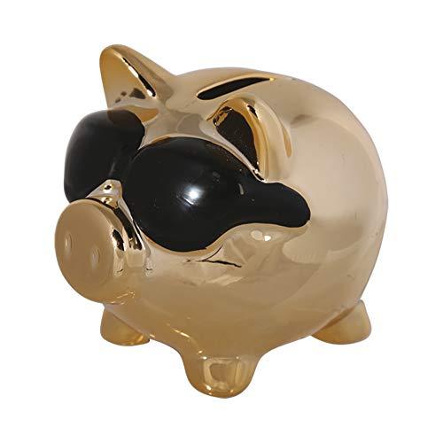 Preis am Stiel 1 x Spardose ''Schwein mit Sonnenbrille'' | Sparschwein | Sparbüchse | Urlaubskasse | Schwein