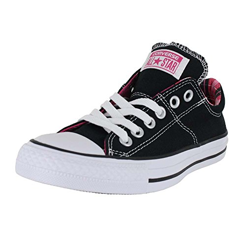 Converse Chuck Taylor All Star Madison, Baskets Basses Femme Noir/blanc/rose vif
