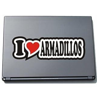 Laptopaufkleber / Laptopskin / JDM / Die Cut - Aufkleber / Herz - 297 mm I LOVE ARMADILLOS