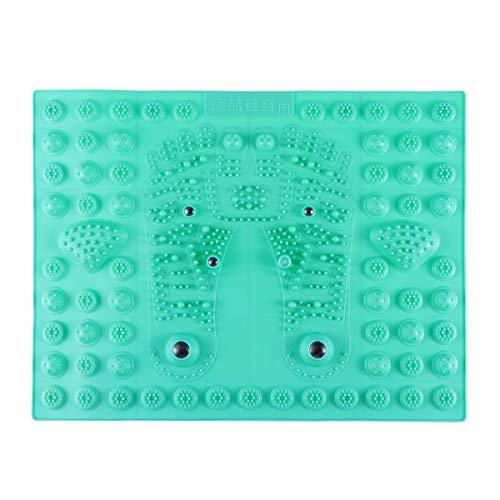 Healifty Akupressur Fußmatte Fußmassagematte Fußreflexzonenmatte Magnetfeldtherapie Reflexzonenmassage Matte für Fuß Entspannung (Grün)