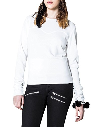 cheap-monday-womens-wow-sweat-white-sweater-with-stitching-in-size-m-white