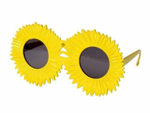 Sonnenbrille Funbrille Partybrille Spaßbrille Diskobrille Karneval viele Modelle, Brille wählen:F-031 Sonnenblume