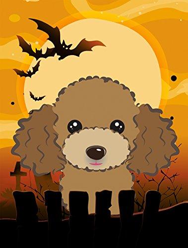 Caroline 's Treasures bb1814chf Halloween Schokolade Braun Pudel Leinwand Haus Größe Flagge, multicolor, groß