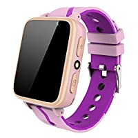 Kids Smartwatch with Music Player - Boys Girls Smart Watch Phone MP3 Player [1GB Micro SD Included] Pedometer Fitness Tracker Camera Flashlight Alarm Clock FM Child Holiday Birthday Gifts (Pink)