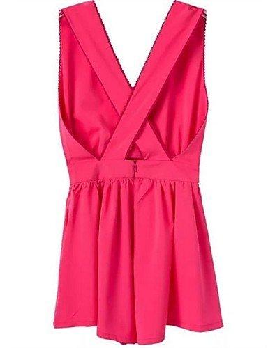 GSP-JUMPSUIT ( Mousseline ) Shorts - Fin - non élastique à Sans manche dark pink-s
