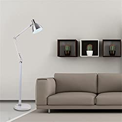 GMM® Lámparas de Piso Luz de Interior Led Plegable Ajustable Dormitorio Moderno Simple Salón Lámparas de Mesa decoración Vertical Luces de Piso