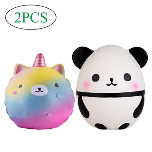 065372513 Anboor Squishies Unicorn Bear Galaxy Mini Panda Egg Kawaii de Crecimiento  Lento Perfumado Squishies Animal para