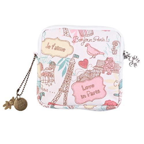 Healifty Damenbinde Tasche große Kapazität Damenbinde Organizer (Romantisches Paris)