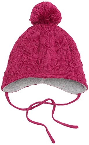 f2c52b69a7ea maximo Baby-Mädchen Mütze Jamme, Bindeband, Pompon, Rot (Beere 26), 49