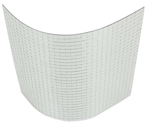 Espejo alfombrillas facetas de 10mm en el tamaño 30x 30cm cromo de plata adhesiva espejo de pantalla...