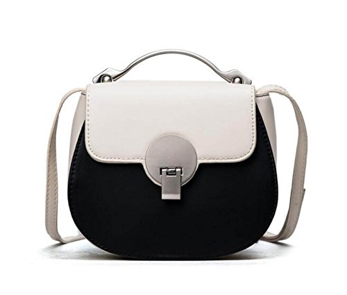 KYFW Womens Hardware Hand - Hit Color Lock Bag Schulter Messenger Bag Mode Einfache Tasche D