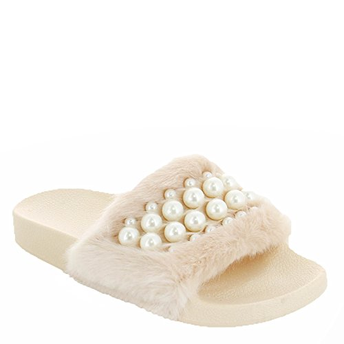 Ideal Shoes, Damen Zehentrenner Beige