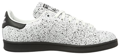 adidas Stan Smith, Gymnastique mixte adulte Bianco (Crywht/Cblack)