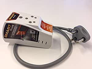 Smart Plug High Low Voltage Cutout/Protector Rated @ 16Amp with Cord with Surge Protection Upto 4000 Volts