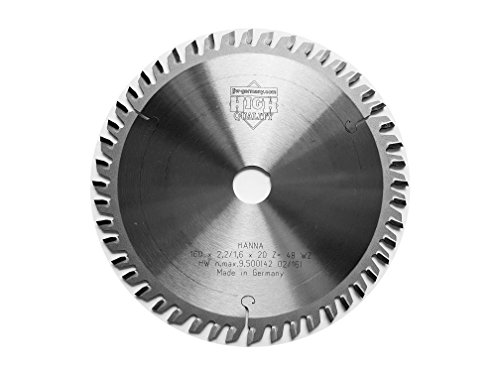 Preisvergleich Produktbild jjw-germany HM – Kreissägeblatt Hanna 160 x 2,2 x 20 Z= 48 WZ speziell für Festo / Festool, 1 Stück, 4250980601797