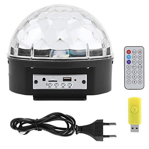 Zerone 27W 9 Farben LED Disco Licht Bluetooth Lautsprecher MP3 Player Rotierenden Ball Lichter mit Fernbedienung(EU-Stecker)
