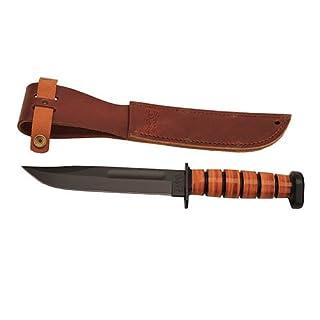 Ka-Bar Unisex's Dog's Head Utility Fixed Blade Knife-Black, 12-Inch