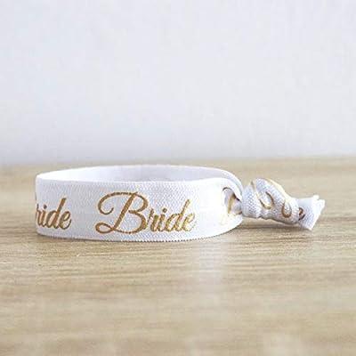 """Bracelet EVJF""""Bride"""" doré - Idée cadeau"""