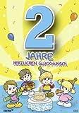 Archie Geburtstagskarte zum 2. Geburtstag Junge gelb Glückwunschkarte Kinder