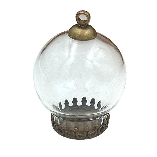 10pcs 20* 12mm Cute Mini Botella de Globo de cristal transparente