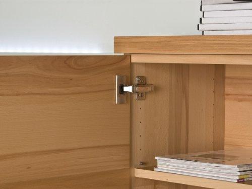 Brinkmann – Luxus Wohnwand – Kernbuche Echtholz Furnier – Weiß Hochglanz - 5