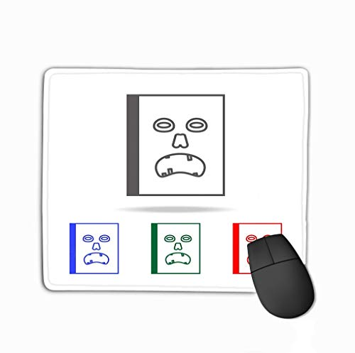 Book icon Elements Multi Colored Icons Premium Quality Graphic Design Simple websites Web Mobile app Info Rectangle Rubber Mousepad 11.81 X 9.84 Inch ()