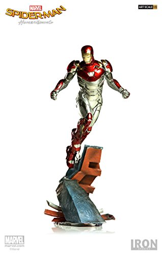 4311: 10MAN MARK Hardcover BDS Art Maßstab Statue, rot, silber, gold (Iron Spiderman Anzug)