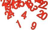 Hotex AdventskalenderZahlen 124, aus Holz, 25 mm, rot 30746
