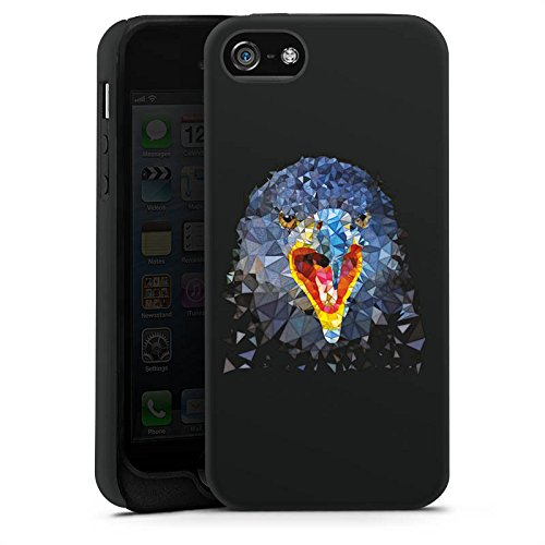Apple iPhone X Silikon Hülle Case Schutzhülle Rabe Vogel Muster Tough Case matt