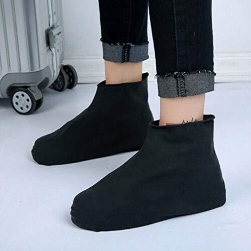 Dastrues 1 Pair Shoe Covers,Boot Overshoes Anti-Slip Reusable Latex Shoe Covers Waterproof Rain Boot Overshoes Shoes Anti-Slip Reusable Latex Shoe Covers Waterproof Rain Boot Overshoes Shoes Unisex (Boots Overshoe)