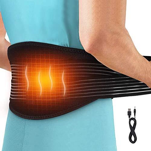 Heizung Massage Gürtel Heizung Taille Gürtel Wickeln, Verstellbarer Elektrisches Rückenwärmer für Arthritis im unteren Rückenbereich, Dysmenorrhea Abdominal Pain, Lumbalbandage Geeignet für Unisex