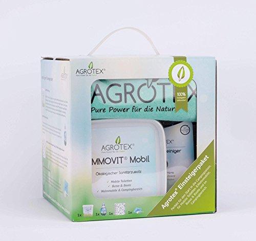 Komplettpaket AMMOVIT 8-teilig für Camping & Caravan - inkl. ökologischem Sanitärzusatz zur Geruchs- und Fäkalienbehandlung