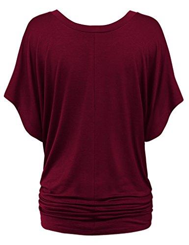 Match Damen T-Shirt Tops #141 141 Weinrot
